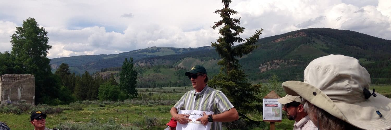 Eagle River Watershed Council program, Camp Hale, Colorado